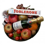 Fruitmand cava en toblerone